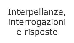 Interpellanze e interrogazioni